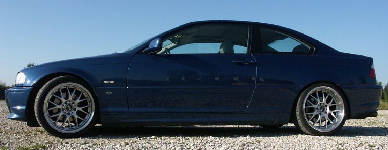 Normal blue car outdoor