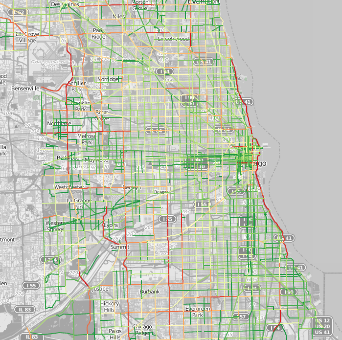 Traffic Patterns In Chicago